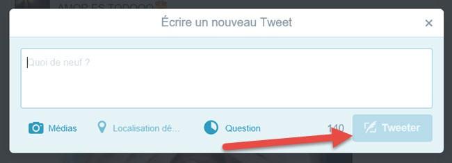 Comment composer un nouveau tweet