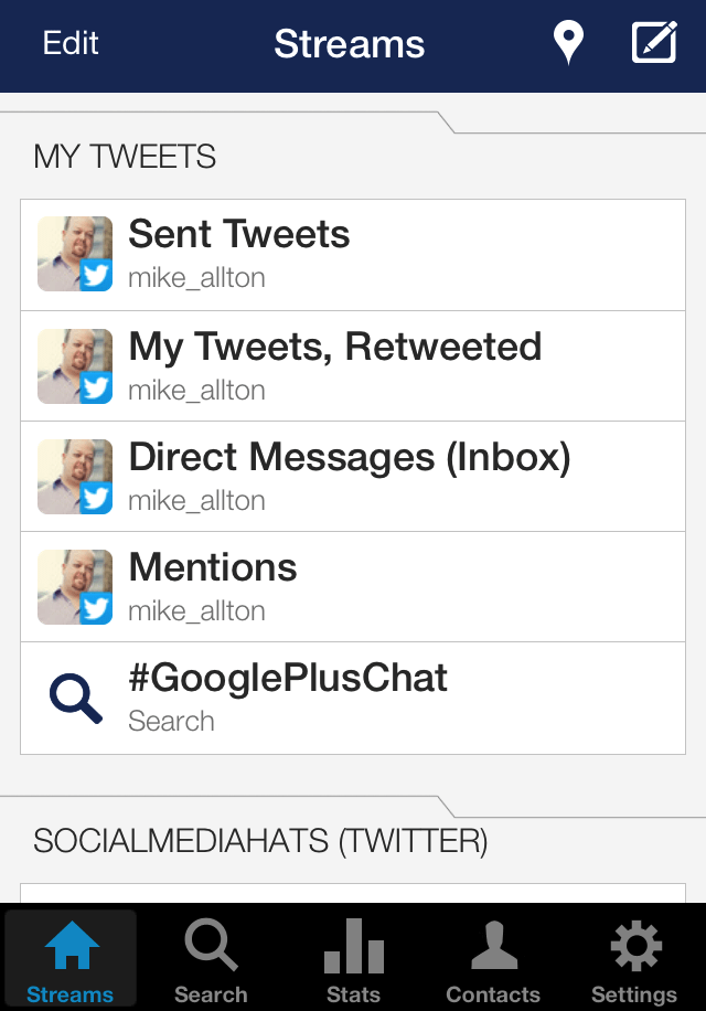 Twitter à partir de hootSuite