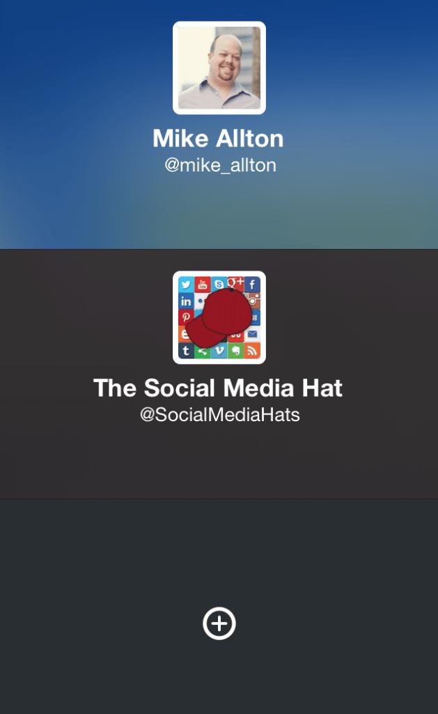 choisir un autre compte twitter dans iPhone