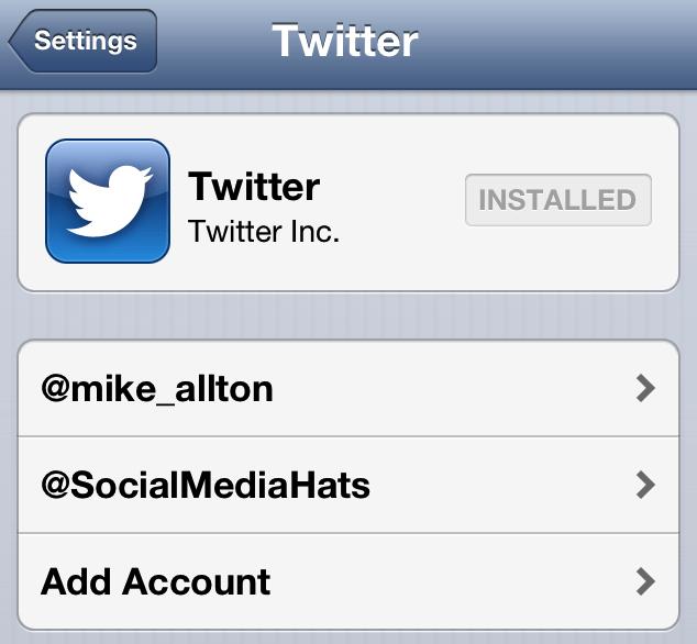 PLusieurs comptes twitter dans iPhone