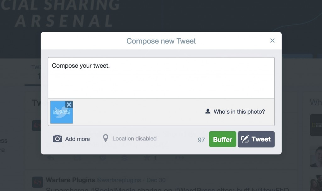 Insérer une image avec votre tweet, offrir des contenues visuels
