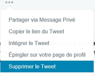 Comment supprimer manuellement votre tweet
